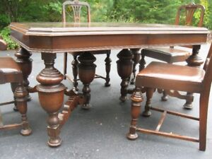 Antique Peppler Dining Table and Chairs