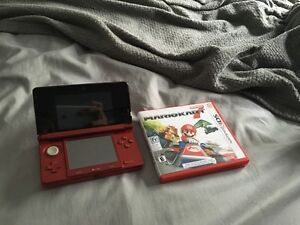 3DS Red with Mario Cart 7