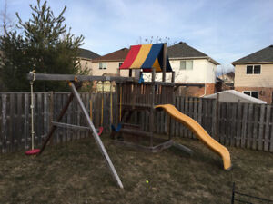 Rainbow outdoor play structure for sale