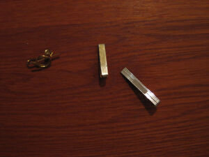 Gold, Brass, and Silver Tie Clips