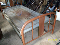 Vintage Steel Beds with frames and springs