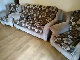 3+1+1 fabric sofa suite