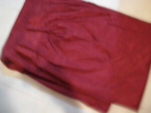 Pair of Wine Lined Drapes For Sale Price $ 20.00