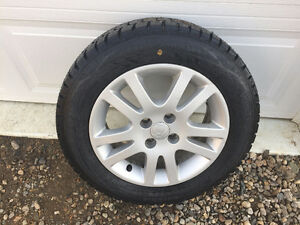 Honda Civic winter tires on rims