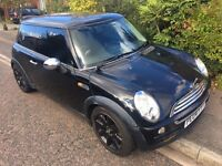 MINI cooper Hatch 1.6 One Edition 3dr manual petrol black alloys cd dvd bass box tinted windows