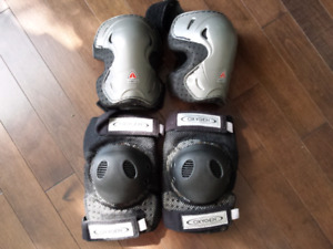 2 pairs of Knee pads / guards adult size