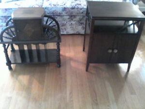 2 Small antique tables