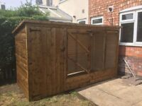 10ft x 4ft dog run, kennel and run