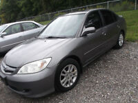 REDUCED  2005 HONDA CIVIC  AUTO 4CYL 4DR