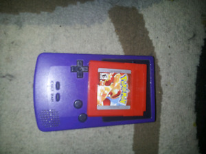 Gameboy Color With Pokemon Red