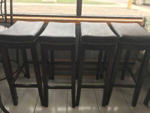 Brand New  Bar Height Leather Top Stools