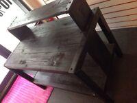 Custom made Metal & Wood, retail display table