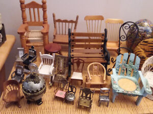 collection chaises miniature