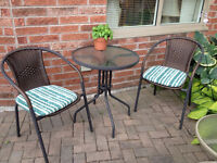 Patio Bistro Set - 2 years old