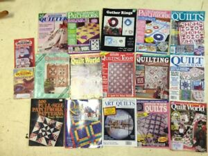 18 Quilting books and Magazines