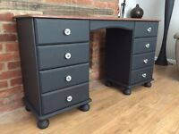 Shabby chic black desk