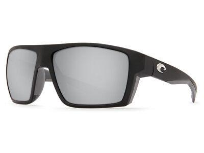 NEW Costa Del Mar BLOKE Matte Black Gray / 580 Silver Gray Mirror Glass - 124 Glasses