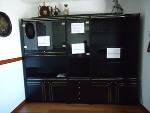 3 section wall unit
