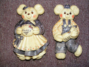 Vintage Ornament Dough - 2 Bears - Early 1960's