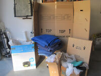Moving Boxes and Blankets