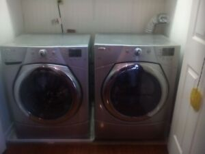 Whirlpool stainless steel washer and dryer