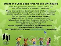 Infant and Child Basic First Aid and CPR