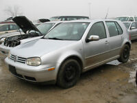 2003 VW GOLF 2.0L 5 SPD FOR PARTS @ PICNSAVE WOODSTOCK