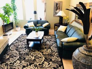 Sofa set - 3 piece custom made Italian Leather