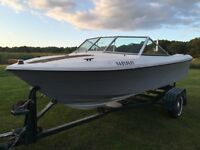 18 ft Run About 85 hp Mercury Outboard With Tim