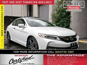 2016 Honda Accord Touring + CERTIFIED 7YR/160000KMS!