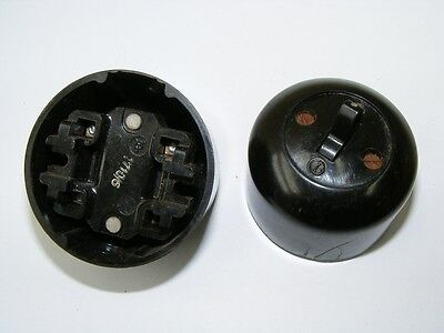 Old Bakelite Wall Light Switch Switch Ap Change-Over Switch Loft with Design