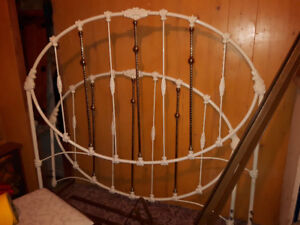 Wesley Allen wrought iron and brass bed frame
