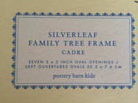 Pottery Barn family tree silver leaf frame - never used