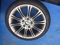 Genuine BMW MV2 alloys nearly new winter tyres