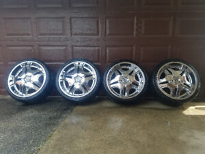 22' Chrome rims with summer tires 265/35R22