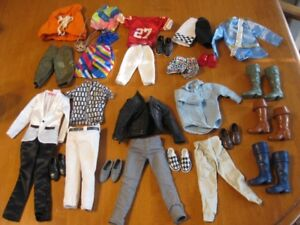 BARBIE DOLL KEN CLOTHES LOT
