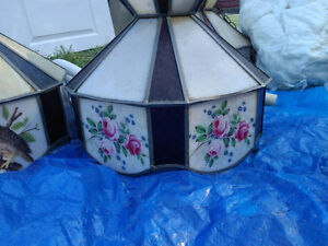 Tiffany Stained Glass Ceiling Lights - Vintage - 3 Available