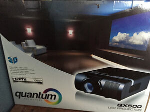 """70 inch self locking screen and projector"