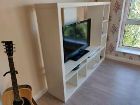 White IKEA TV stand unit