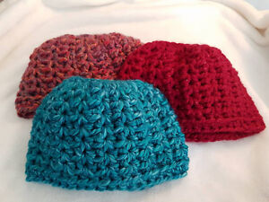 Messy Bun Crochet Hats - Variety of Colours Available Peterborough Peterborough Area image 6