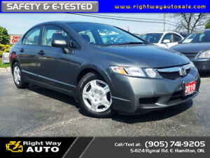2010 Honda Civic DX-G | LOW KMS | SAFETY & E-TESTED