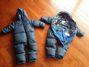 Two barely used Columbia down snow suits 60.00 each or b.o.