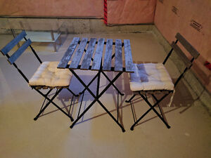 Patio Set - for 2 (Table, Chairs, Pillows)