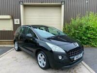 (10) 2010 Peugeot 3008 1.6 HDi Sport 5dr Manual Black Estate Low Miles