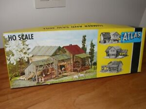 HO, ATLAS, Scale Plastic Model - Lumber and Saw Mill