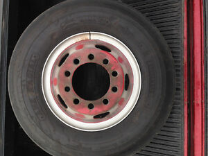 Truck steer tires and rims