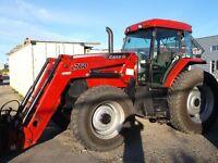 tracteur case mx120 tout équipé