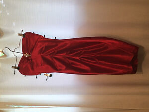 Small women's red formal dress