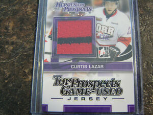 2013-14 Heroes And Prospects Jersey Curtis Lazar card#TPM-16