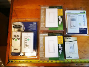 BNIB Light Dimmers, Ceiling Fan Remote Controls, Switch Plates